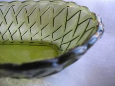 Celery dish Indiana Glass depression glass Pretzel by Klassic, $20.00
