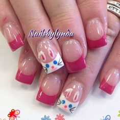 Easter Nail Designs, Holiday Nail Designs, Holiday Nail Art, Nail Art Designs, Nails Design, Spring Nail Art, Spring Nails, Summer Nails, French Nails