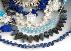 For the stone addicted beader, a selection of coordinating gemstone strands would be just the thing!