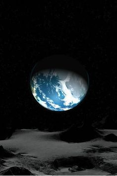 Earth as seen from the Moon. It's our responsibility to protect our planet - our home.