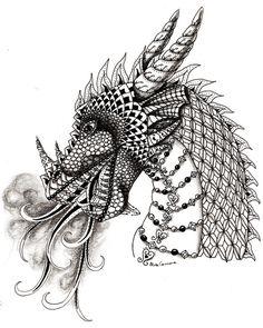 Dragon Art Print by Elisa Camera   Society6