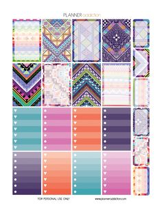 Tribal Aztec – Weekly Set for Happy Planner Description: The sheets of this printable planner stickers size is x inches 1 ZIP file containing 3 JPG file, 1 PDF file & 3 Silhouette cut file. Free Planner, Happy Planner, Blog Planner, Planner Ideas, Planner Organization, Planning And Organizing, Printable Planner Stickers, Calendar Stickers, Journal Stickers