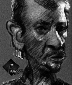 Caricature Johnny Hallyday