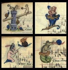whimsical lettrines - 'Chansons d'Amour'