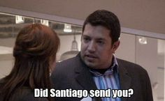 """Are you one of Santiago's people?"" Impractical Jokers....Funny Funny show!"