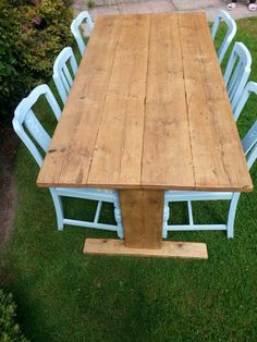 Rustic Reclaimed Timber Dining Table 6ft X 3ft Approx On Etsy
