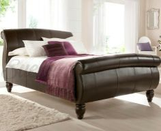 Sweet Dreams and Style Combined, with a Leather Bed - Mummy Matters Brown Leather Bed, Leather Bed Frame, Real Leather, Home Bedroom, Bedroom Furniture, Home Furniture, King Bed Frame, Wood Beds, Black Bedding