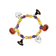 Halloween Charm Bracelet Craft Kit - OrientalTrading.com
