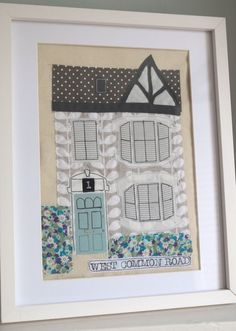 Personalised fabric appliqué picture of your by SewCoastalShop