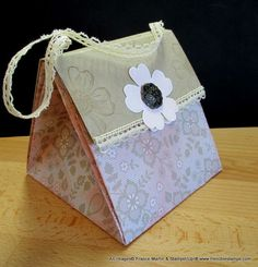 Stamp & Scrap with Frenchie: One 12 x 12 sheet purse