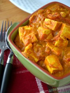 Indian-Style Vegan Butter Chicken - Made with Tofu! Ready in less than 30 minutes.