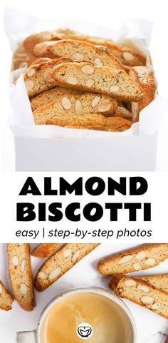 These super crunchy almond biscotti are so easy to make, they last up to 2 weeks and are perfect to give as a homemade Christmas gift! #biscotti #Italiancantuccini #biscottirecipeeasy #biscotticookies #biscottialmond #cantucci #cantuccinirecipeitalian Cheap Meals, Easy Meals, Appetizer Recipes, Dessert Recipes, Party Desserts, Drink Recipes, Vegetarian Recipes, Healthy Recipes, Yummy Recipes