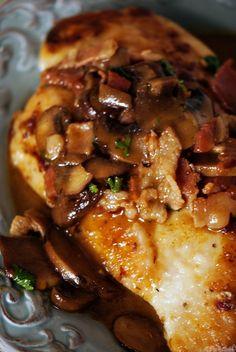 Chicken marsala w/ bacon instead of pancetta
