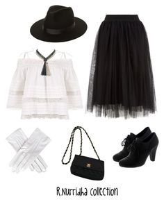 """""""100 Years of Fashion : 1930"""" by rizkinurridhaa on Polyvore featuring Lack of Color, Black, Marina J. and Chanel"""