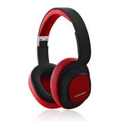 Ausdom M08 Lightweight Stereo Wired Wireless Bluetooth Over Ear Headphones Headsets with Deep Bass Built-in Mic for Calling Music - Red. [ BOTH WIRED AND BLUETOOTH ]-- Can be used both wired (via the 3.5mm audio cable).Wirlessly via bluetooth 4.0+EDR,Sync Bluetooth-enabled device within 10 meters range. [ POWERFUL BASS ] -- Powerful and rich bass speaker transmits high fidelity and detailed wireless sound to you. Brings you amazing audio enjoyment. [ GIVING LONG-TIME COMFORT ] -- Foldable...