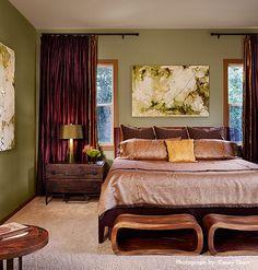 Purple And Green... Interesting Modern Retro Bedrooms, Modern Bedroom,  Master Bedrooms