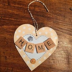 Hanging heart - home ❤️