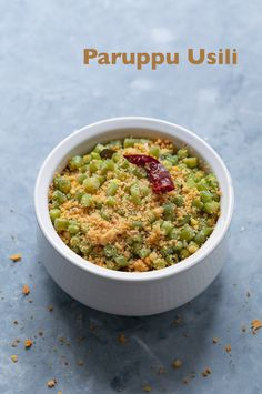 Beans paruppu usili - Cooked green beans combined together with a spicy lentil mixture (toor dal and chillies). This is a traditional tamil recipe and is a dry vegetable side dish.