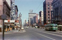 San Francisco, 1957. Photo by unknown. Market Street.