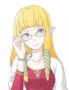 Zelda looks great with those glasses.