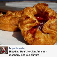 Kouign Amann- Light and buttery not a croissant but a taste of perfection. These are filled with raspberry and red current. May find some at Four Barrel in San Francisco. Again from b. patisserie