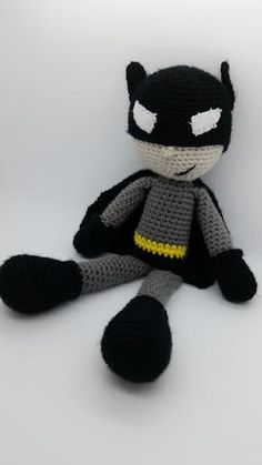 My newest crochet pattern $5   https://www.etsy.com/listing/240304449/crochet-batman-inspired-pattern-large  Or look in the Freaky Friends section for a finished doll.  Also on ravelry  www.ravelry.com/stores/freaksinyarn