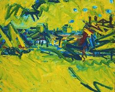 The Origins of the Great Bear, 1968 by Frank Auerbach. Expressionism. cityscape