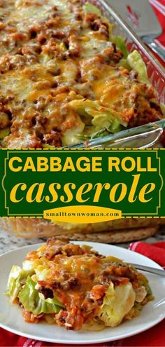 This quick and easy main dish is sure to become one of your favorites! Layered with delicious flavors, this unstuffed cabbage roll casserole recipe tastes even better than what Grandma used to make. Save this dinner idea! Beef Casserole Recipes, Casserole Dishes, Meat Recipes, Cooking Recipes, Healthy Recipes, Entree Recipes, Beef Recipes For Dinner, Ground Beef Recipes, Kitchens