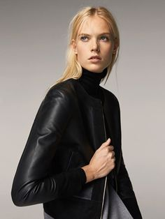 Spring Summer 2017 Women´s NAPPA JACKET WITH CONTRASTING SUEDE at Massimo Dutti for 2499. Effortless elegance!