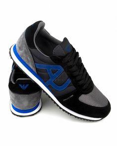 Zapatillas Hombre ARMANI ® Gris & Azul | ENVÍO GRATIS Men's Shoes, Nike Shoes, Hugo Boss Man, Jeans And Sneakers, Nike Lebron, Armani Jeans, Emporio Armani, Mtv, Lacoste
