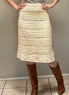 crochet skirt no pattern. Iveta Krupauerová · Háčkované sukně 38c4d17229