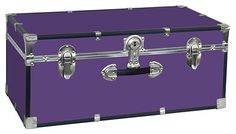 The Collegiate Footlocker 1 PURPLEFactory Direct to Description:Mercury Luggage / Seward Trunk 30 Inch Collegiate Footlocker - One HandleColors:BlackOrangePinkBluePurplePerfect for dorm-room storage, this Mercury Luggage Dorm Storage, Storage Trunk, Storage Chest, Extra Storage, Furniture Storage, Purple Furniture, Accent Furniture, Foot Locker, Seward Trunk