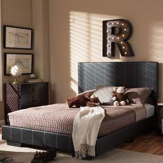 Wholesale Interiors Baxton Studio Full Platform Bed & Reviews | Wayfair