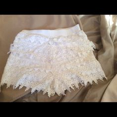 "Selling this ""White crochet tiered shorts. Size x small"" in my Poshmark closet! My username is: dkellim. #shopmycloset #poshmark #fashion #shopping #style #forsale #Express #Other"