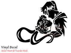Sailor Moon & Tuxedo Mask Decal  Various by ThoughtfulDesigns, $18.00
