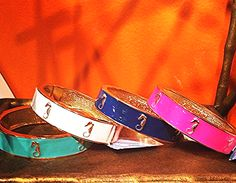 A seashore #statement, the Seahorse Bangles! {four colors to wear solo or #stack} #SwellCaroline #Seahorse