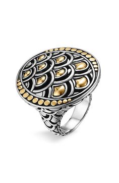 John Hardy 'Naga Gold & Silver' Oval Ring available at #Nordstrom