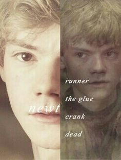 The maze runner. Newt-- My favorite from the book!  Really ticked me off what happened :( :( :( :( :(