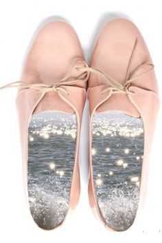 pastel pink lace ups-- adorable!! Too bad you can't see the inside when you wear them!