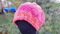 Spiral knit hat by LaceMarketKnits on Etsy
