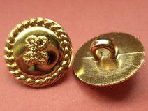 12 Knöpfe gold 15mm (5665-4) Blusenknöpfe Knopf