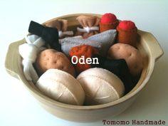 Pretend food  Play food   Felt food  Japanese by TomomoHandmade, $33.00