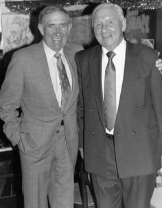 Danny Blanchflower and Bill Nicholson, 1989