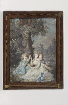 Portrait de la reine Marie-Antoinette, de sa fille et de son second fils
