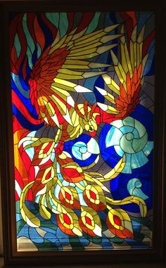 3 d flying stained glass bird | Stained glass Bird - Phoenix by Art-Brother on DeviantArt