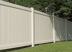 White privacy fence to avoid annoying/sloppy neighbors!