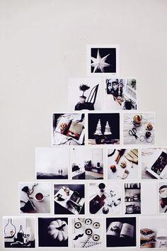 Une autre idée quand on a pas la place pour un vrai sapin. Alternative Christmas Trees