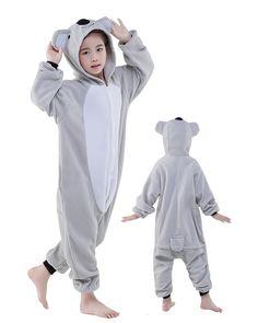 4b274b400e Koala Onesie Kids Kigurumi Polar Fleece Animal Costumes For Teens