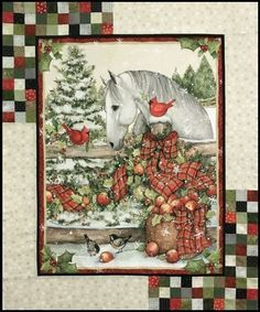 Excellent Christmas deco info are offered on our site. Nancy Zieman, Quilting Projects, Quilting Designs, Quilt Design, Sewing Projects, Tim Holtz, Christmas Fabric Panels, Christmas Horses, Christmas Deco
