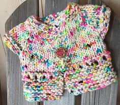 Wee Cupcake is a super-fast to knit baby sweater, and only takes an hour or so to make from start to finish.